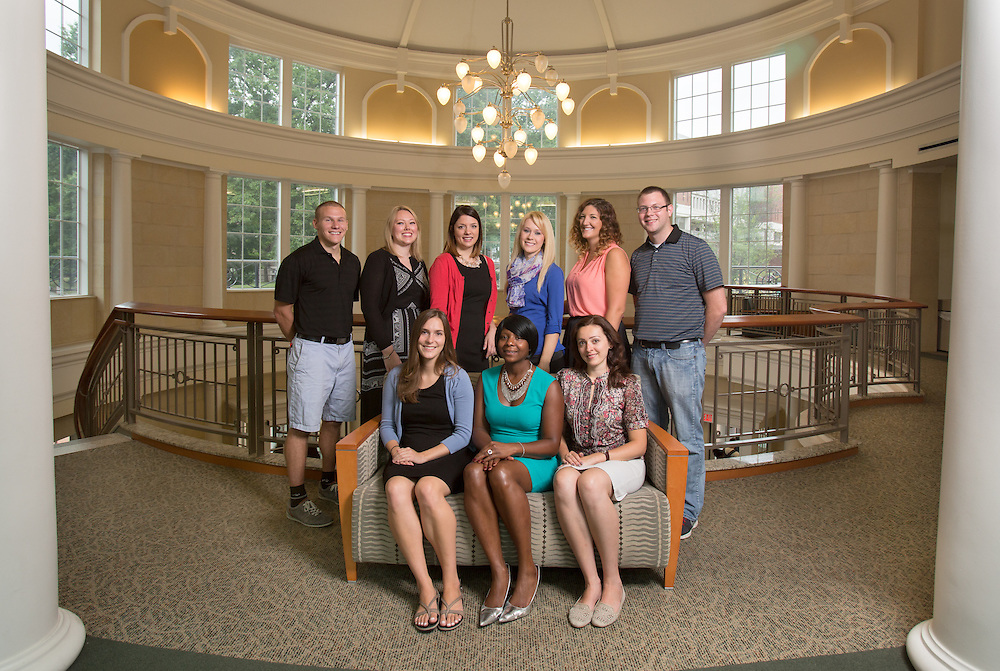 Allen Student Advising Center Graduate Assistant group photo. Photo by Lauren Pond
