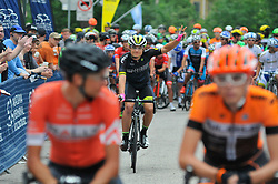 Local pro-cyclist and favorite ROBIN CARPENTER of team Hincapie at the start of the 2016 Philadelphia Cycling Classic, on June 6th, 2016, in Philadelphia, Pennsylvania. Pro-cyclist compete at a 73.8miles/118.7km course for the UCI Women's World Tour and 110.7miles/178.2km for the UCI 1.1 Men's America Tour during the 'Manaynunk Wall' Philly Bike Race.