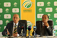 Cape Town- Cricket South Africa Anti Corruption Press Conference 8 Aug 2016