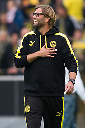 19.10.2013, Signal Iduna Park, Dortmund, GER, 1. FBL, GER, 1. FBL, Borussia Dortmund vs Hannover 96, 9. Runde, im Bild J&uuml;rgen / Juergen Klopp (Trainer Dortmund) nach dem Sieg // during the German Bundesliga 9th round match between Borussia Dortmund and Hannover 96 Signal Iduna Park in Dortmund, Germany on 2013/10/19. EXPA Pictures &copy; 2013, PhotoCredit: EXPA/ Eibner-Pressefoto/ Kurth<br /> <br /> *****ATTENTION - OUT of GER*****
