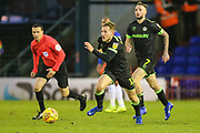 Forest Green Rovers George Williams(11) runs forward during the EFL Sky Bet League 2 match between Oldham Athletic and Forest Green Rovers at Boundary Park, Oldham, England on 12 January 2019.