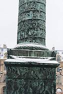 France. Paris 1st district. Place and Column Vendome