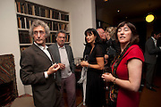 MICHAEL MOLNAC; STEPHEN FREARS; POLLY SAMSON; CAROL SEIGEL, Freud Museum dinner, Maresfield Gardens. 16 June 2011. <br /> <br />  , -DO NOT ARCHIVE-© Copyright Photograph by Dafydd Jones. 248 Clapham Rd. London SW9 0PZ. Tel 0207 820 0771. www.dafjones.com.
