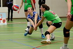 31-01-2013 VOLLEYBAL: BEKER VVC VUGHT - EUROSPED : VUGHT <br /> Annelin Pasveer, Ilse Oude Luttikhuis, Eurosped<br /> ©2012-FotoHoogendoorn.nl / Pim Waslander