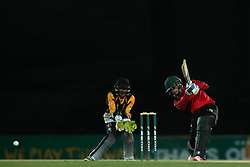 Mathew Christensen of Eastern Province drives a delivery during the Africa T20 cup pool D match between Boland and Eastern Province held at the Boland Park cricket ground in Paarl on the 24th September 2016.<br /> <br /> Photo by: Shaun Roy/ RealTime Images