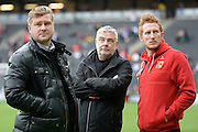 Milton Keynes Dons manager Karl Robinson with Milton Keynes Dons defender Dean Lewington (3) during the EFL Sky Bet League 1 match between Milton Keynes Dons and Southend United at stadium:mk, Milton Keynes, England on 22 October 2016. Photo by Dennis Goodwin.