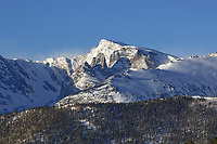 March 2019 view of Taylor Peak and the Sharkstooth in RMNP