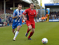 Photo: Olly Greenwood.<br />Colchester United v Coventry City. Coca Cola Championship. 10/03/2007. Coventry's Marcus Hall and Colchester's Karl Duguid