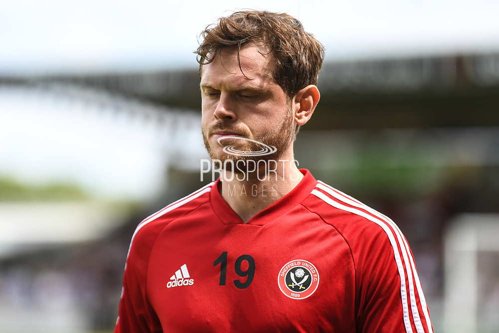 Sheffield United defender Richard Stearman (19) during the Pre-Season Friendly match between Northampton Town and Sheffield United at the PTS Academy Stadium, Northampton, England on 20 July 2019.