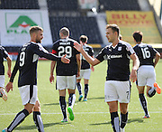 Goalscorers Rory Loy and Greg Stewart celebrate after the fourth goal - Kilmarnock v Dundee - Ladbrokes Scottish Premiership at Rugby Park<br /> <br />  - &copy; David Young - www.davidyoungphoto.co.uk - email: davidyoungphoto@gmail.com