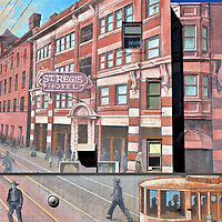 St. Regis Hotel Mural in Winnipeg, Canada <br />
