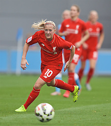 MANCHESTER, ENGLAND - Sunday, August 30, 2015: Liverpool's Lime Smorsgard during the League Cup Group 2 match against Manchester City at the Academy Stadium. (Pic by Paul Currie/Propaganda)