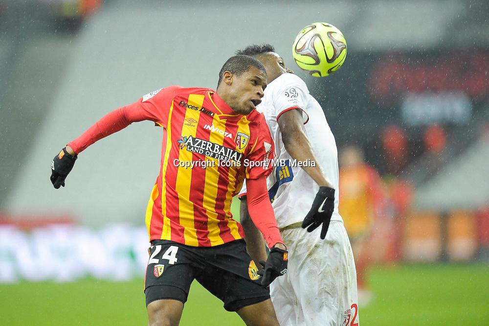 Ludovic Baal / Divock Origi - 07.12.2014 - Lens / Lille - 17eme journee de Ligue 1<br />Photo : Andre Ferreira / Icon Sport