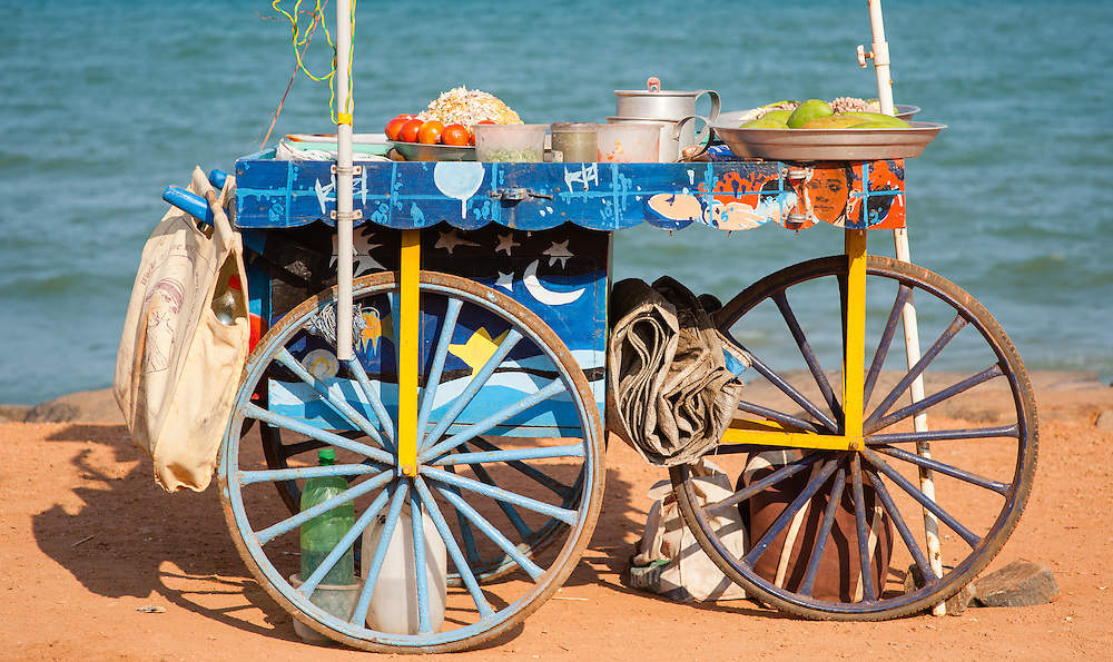 Snack stall by the sea at Puducherry (India)