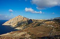 Grece, Cyclades, ile de Folegandros, Hora, vue generale du village // Greece, Cyclades islands, Folegandros, Hora village