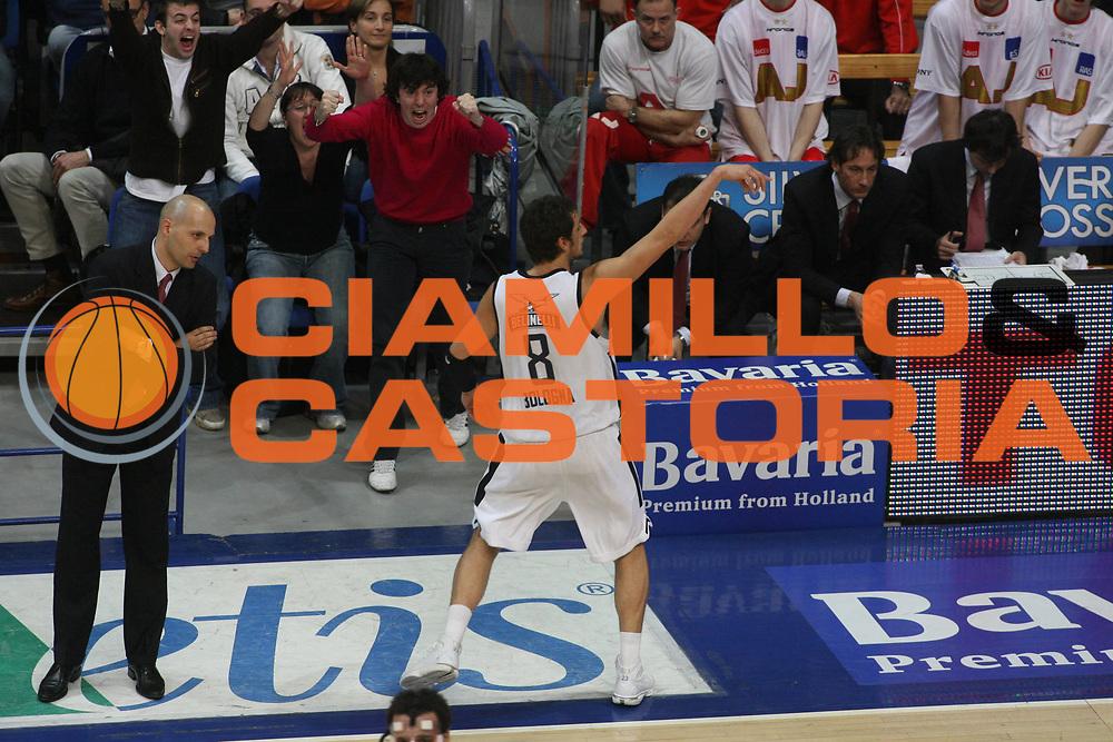 DESCRIZIONE : Bologna Lega A1 2006-07 Climamio Fortitudo Bologna Armani Jeans Milano <br /> GIOCATORE : Belinelli <br /> SQUADRA : Climamio Fortitudo Bologna <br /> EVENTO : Campionato Lega A1 2006-2007 <br /> GARA : Climamio Fortitudo Bologna Amani Jeans Milano <br /> DATA : 25/03/2007 <br /> CATEGORIA : Esultanza <br /> SPORT : Pallacanestro <br /> AUTORE : Agenzia Ciamillo-Castoria/G.Ciamillo