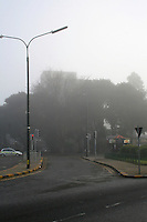 Foggy weather early morning in ballsbridge Dublin Ireland