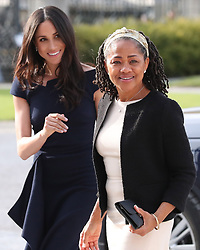 Meghan Markle and her mother, Doria Ragland, arrive at Cliveden House Hotel on the National Trust's Cliveden Estate to spend the night before her wedding to Prince Harry in Taplow, Berkshire, UK, on the 18th May 2018. Picture by Steve Parsons/WPA-Pool. 18 May 2018 Pictured: Meghan Markle, Doria Ragland. Photo credit: MEGA TheMegaAgency.com +1 888 505 6342
