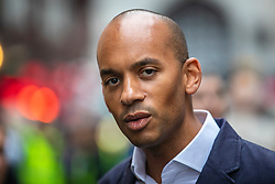 © Licensed to London News Pictures. 17/05/2019. London, UK. Change UK MP Chuka Umunna at a campaign event in central London with MEP candidates Gavin Esler and Martin Bell. Photo credit: Rob Pinney/LNP