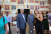 13th Biennale of Architecture..Giardini..French Pavillion Opening..Biennale President Paolo Baratta (blue Jacket).