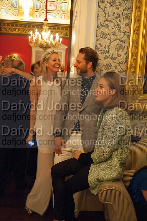 SOPHIA HESKETH; DEREK BLASBERG; NINA FLOHR, Tatler magazine Jubilee party with Thomas Pink. The Ritz, Piccadilly. London. 2 May 2012