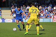 AFC Wimbledon defender Will Nightingale (5) dribbling and starting an attack during the EFL Sky Bet League 1 match between AFC Wimbledon and Bristol Rovers at the Cherry Red Records Stadium, Kingston, England on 8 April 2017. Photo by Matthew Redman.