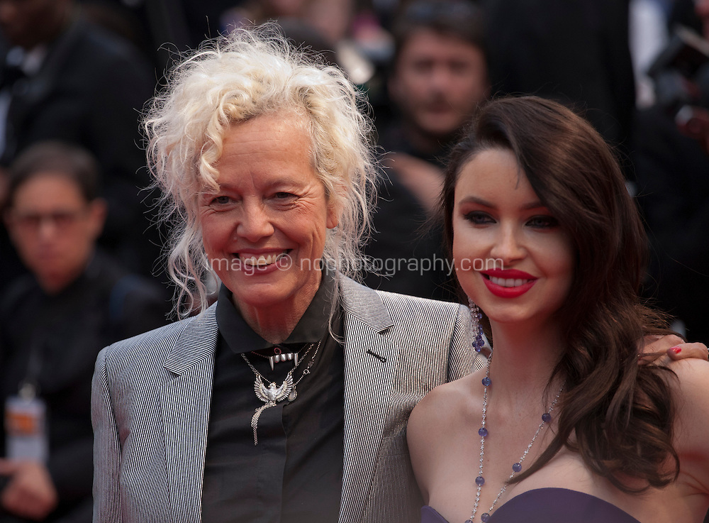 Photographer Ellen von Unwerth and  model Emma Miller at the gala screening for the film Macbeth at the 68th Cannes Film Festival, Saturday 23rd May 2015, Cannes, France.