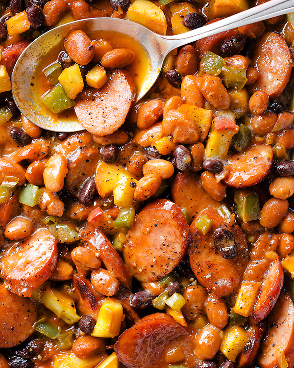Spiced Bake Beans with Apple and Ale