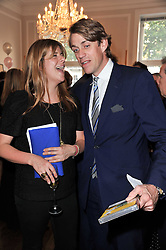 KATE ELLIOT & BEN ELLIOT at a party to celebrate the 60th birthday of Mark Shand and the 50th birthday of Tara the elephant held at 29 Portland Place, London on 25th May 2011.