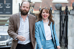 Prime Minister Theresa May's chief of staff Nick Timothy and Joint-chief of staff Fiona Hill leave Conservative Party HQ in Westminster, London, as Mrs May's future as Prime Minister and leader of the Conservatives was being openly questioned after her decision to hold a snap election disastrously backfired.