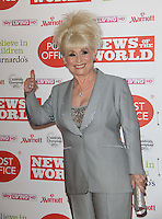 Barbara Windsor News Of The World Children's Champions, Grosvenor House Hotel, Park Lane, London, UK, 30 March 2011:  Contact: Rich@Piqtured.com +44(0)7941 079620 (Picture by Richard Goldschmidt)