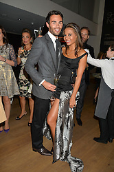 MARK-FRANCIS VANDELLI and VISCOUNTESS WEYMOUTH at She Inspires Art in aid of Women for Women International's work, held at Bonham's, 101 New Bond Street, London on 16th September 2015.