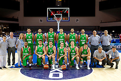 Team of Bulgaria during basketball match between National teams of Slovenia and Bulgaria in Group D of Preliminary Round of Eurobasket Lithuania 2011, on August 31, 2011, in Arena Svyturio, Klaipeda, Lithuania.   Slovenia defeated Bulgaria 67 - 59. (Photo by Vid Ponikvar / Sportida)