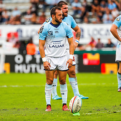 Brandon FAJARDO of Bayonne during the Top 14 match between Bayonne and Montpellier on October 12, 2019 in Bayonne, France. (Photo by JF Sanchez/Icon Sport) - Brandon FAJARDO - Stade Jean Dauger - Bayonne (France)