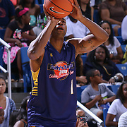 American actor Jay Ellis known for his roles on &quot;Keeping Up With The Kardashians&quot;(2008), &quot;Millionaire Matchmaker&quot; (2008), &quot;How To Look Good Naked&quot; (2008), and  MTV series &quot;Hired!&quot; and BET The Game attempts a shot during The 2015 Duffy's Hope Celebrity Basketball Game Saturday, August 01, 2015, at The Bob Carpenter Sports Convocation Center, in Newark, DEL.    <br /> <br /> Proceeds will benefit The Non-Profit Organization Duffy's Hope Youth Programming.