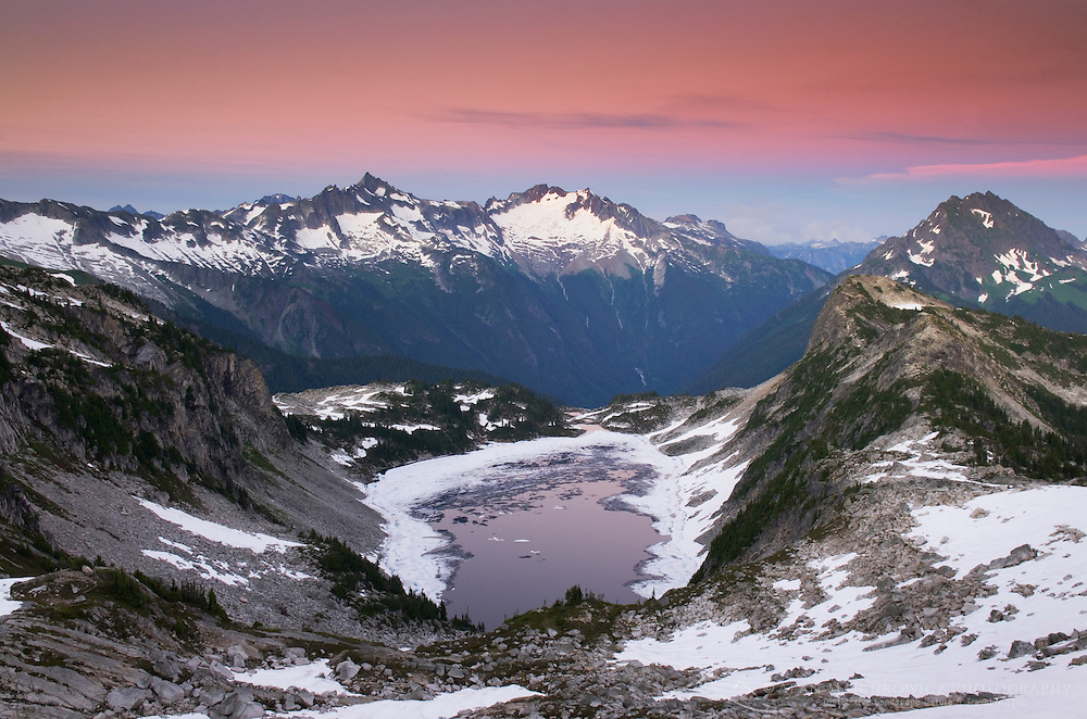 Forbidden and Boston Peaks from Hidden Lake Peak, North Cascades Washington