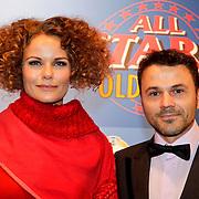 NLD/Amsterdam/20111010 - Premiere All Stars 2, Angela Schijf en partner Tom Van Landuyt