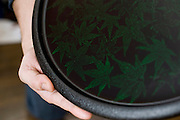 Photo shows one of the Tsugaru lacquerware products made at Masato Kimura's atelier  in Hirosaki, Japan on 18 Jan. 2013. Photo: Robert Gilhooly..