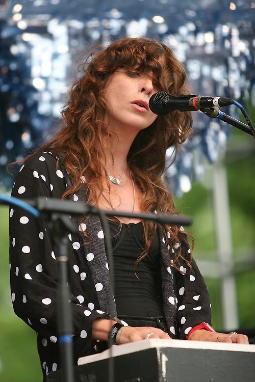 CHICAGO - JULY 18:  Victoria Legrand of Beach House performs onstage during the 2010 Pitchfork Music Festival at Union Park on July 18, 2010 in Chicago, Illinois.  (Photo by Roger Kisby/Getty Images)