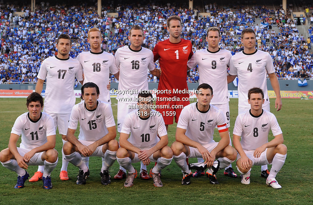 May 26, 2012: New Zealand team getting ready to start the game during the game between the New Zealand and the Honduras at the Cotton Bowl Stadium in Dallas, Texas. New Zealand wins against Honduras, 1-0.