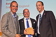 Kevin McCloud with Paul Ciniglio and Lindsay Todd, Radian Housing Association, SE England