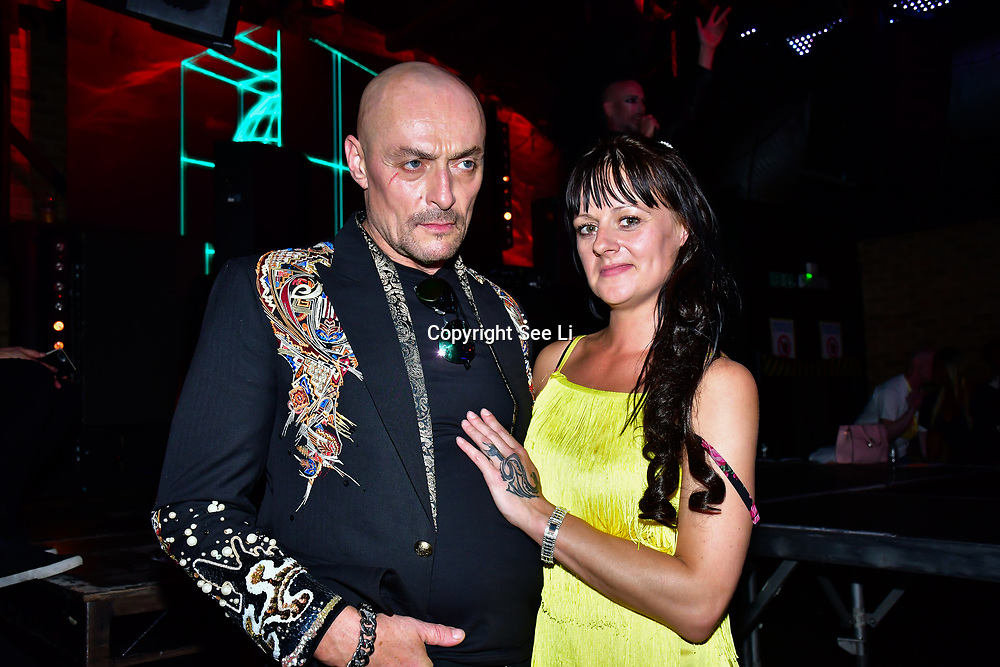 "Designer Aleah Leigh and Sean Cronin is an actor attends The Third Annual Integrity Awards by Dragon Lady Productions and The Peace Project 21st ""The Alternative Fashion Integrity Awards 2019 & Film Networking Soirée"" on 21 September 2019, Fire Club Vauxhall, London, UK."