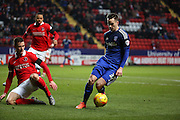 Cardiff City striker, Tom Lawrence (37) with a chance during the Sky Bet Championship match between Charlton Athletic and Cardiff City at The Valley, London, England on 13 February 2016. Photo by Matthew Redman.
