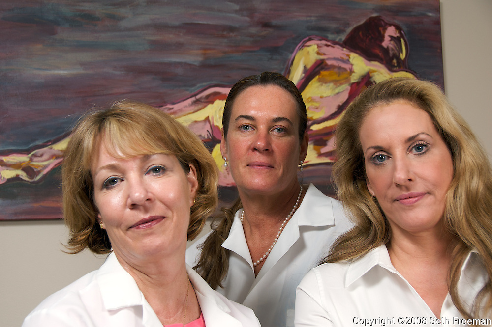 Jeanne O'Connell, Kateri DeLaney, and Meg Comer of the Sylvana Institute for Medical Aesthetics