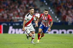 August 25, 2018 - Correa of Atletico de Madrid and Alex Moreno of Rayo Vallecano during the spanish league, La Liga, football match between Atletico de Madrid and Rayo Vallecano on August 25, 2018 at Wanda Metropolitano stadium in Madrid, Spain. (Credit Image: © AFP7 via ZUMA Wire)