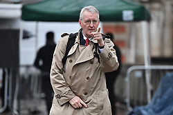 © Licensed to London News Pictures. 21/10/2019. London, UK. HILLARY BENN MP is seen arriving for a radio interview in Westminster, London. Last week Parliament sat on a Saturday for the first time since 1982, but failed to vote on Boris Johnson's new Brexit deal. Photo credit: Ben Cawthra/LNP