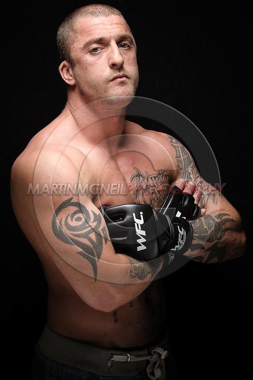 A portrait of mixed martial arts athlete David Stone