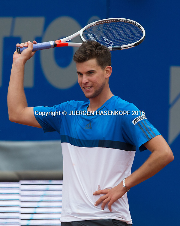 Dominic Thiem (AUT) reagiert veraergert, Frust,Emotion,Endspiel, Final<br /> <br /> Tennis - BMW Open2016 -  ATP  -  MTTC Iphitos - Munich - Bavaria - Germany  - 1 May 2016.