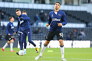 Derby County defender Curtis Davis (33) in the warm up during the EFL Sky Bet Championship match between Derby County and Millwall at the Pride Park, Derby, England on 14 December 2019.