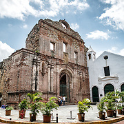 The church was built in 1678 but destroyed by fire in 1756. It sits in the heart of the historic district of Casco Viejo in Panama City.